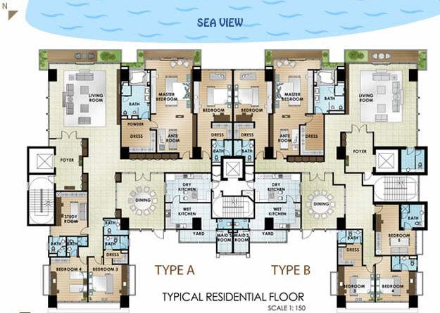 Type A &B floor plan