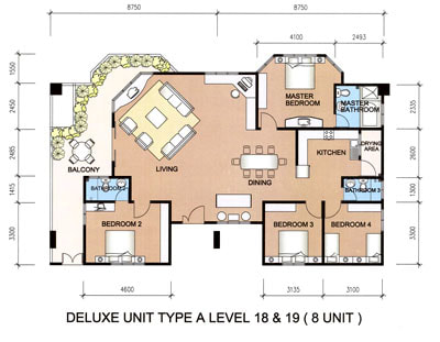 Type A floor plan and layout