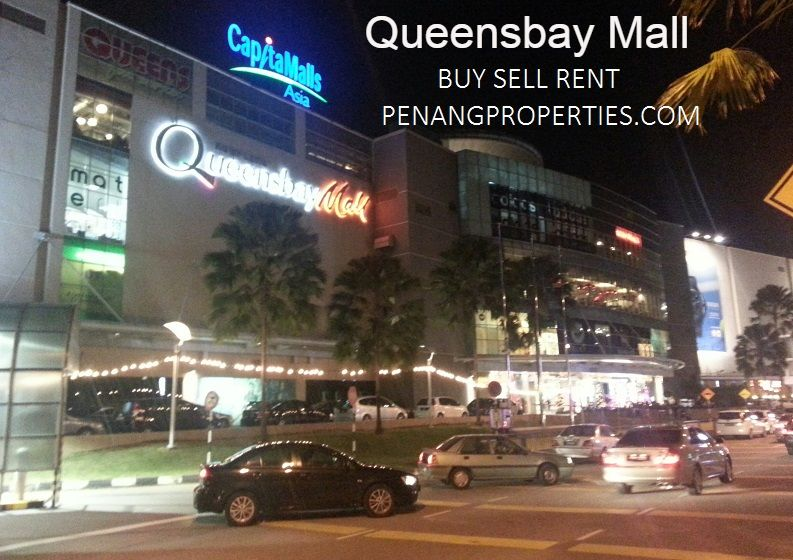 Night view of Queensbay Mall