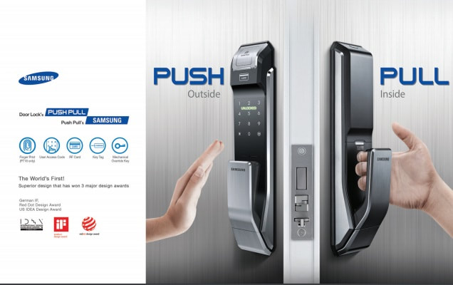The home is equipped with security smart card fingerprint recognition