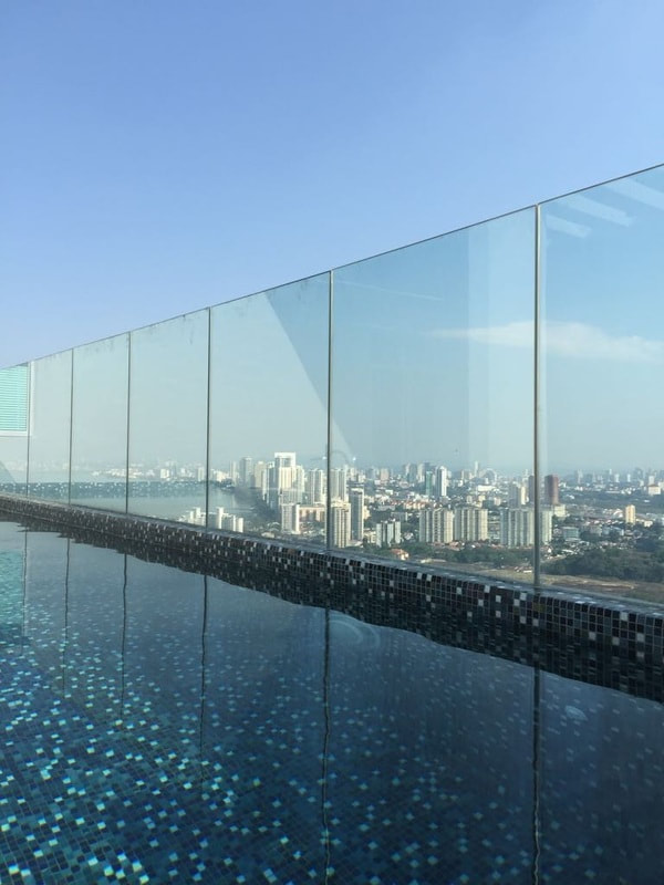 High quality glass railing for unobstructed  views