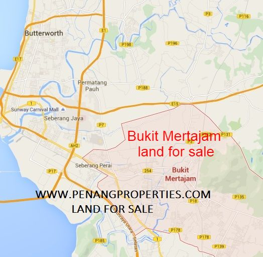 Bukit Mertajam land map